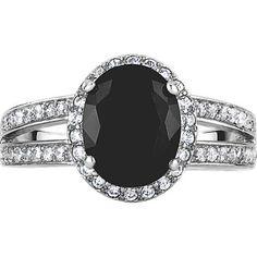 Oval Black Diamond Split Shank Ring in White Gold. Split Shank, Black Diamond, White Gold, Engagement Rings, Jewelry, Enagement Rings, Wedding Rings, Jewlery, Jewerly