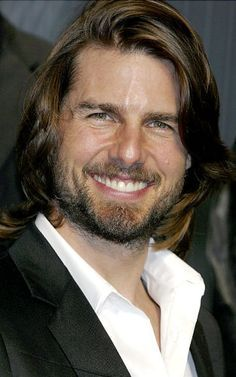 """and again in 2003 for his role as an American military advisor-turned-Samurai in """"The Last Samurai. Tom Cruise Young, Cute Quick Hairstyles, The Last Samurai, Abercrombie Men, Beard Tattoo, Tattoo Man, Long Beards, Ginger Beard, Beard Lover"""