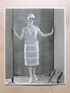 June Marlowe original DW silent fashion studio portrait photo by Freulich 1927