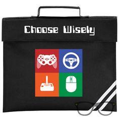 Choose Wisely gaming book bag