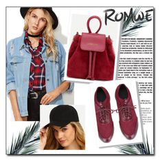 """""""// Romwe 8.//"""" by fahirade ❤ liked on Polyvore featuring Piel Leather"""