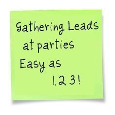 As a Direct Sales Consultant, it's important to remember that sharing the business opportunity is PART OF OUR JOB.It's just as important as booking and selling, and really, you never know whose LIFE YOU MAY CHANGE just by introducing your business to them. So, start GATHERING LEADS at a party every …