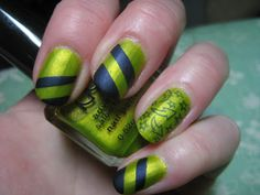 NYX Lime and OPI Russian Navy
