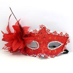 Blue Feather Eye Mask Eyemask Drag Queen Mardi Gras Fancy Dress