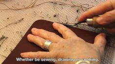 Ana Ongay Leather Workshop by Ana Ongay. This video explains how Ana Ongay feels her artisan leather work.