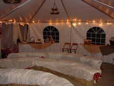 A charming fall setup for a tented #wedding ceremony. Birch Hill Events #NY #Wedding #Albany