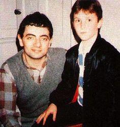 Rowan Atkinson and Christian Bale:  aka Mr Bean and Batman