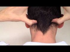 Self massage tip you can easily do at your desk. Good for tension, stiff neck and headache.