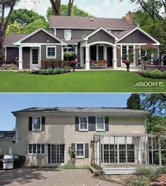 Before And After: A Covered Porch And Fire Pit Extend A Warm Invitation To  A. House MakeoversExterior MakeoverExterior RemodelExterior ...