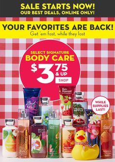 $3.50 Bath & Body Works Clearance Sale – Shop For Gifts Now!