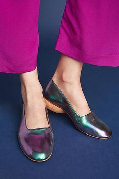 Sydney Brown Iridescent Block Heels