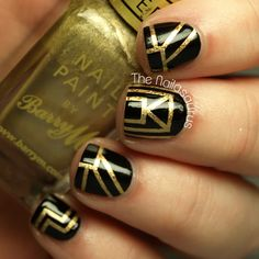 The Great Gatsby Inspired Nail Art | The Nailasaurus | UK Nail Art Blog