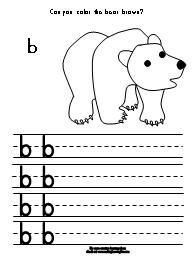 Brown Bear, Brown Bear printing practice activity available at www.makinglearningfun.com.