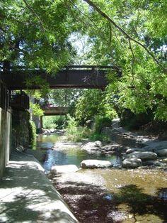 San Luis Obispo downtown creek view