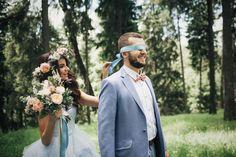 Рустикальная свадьба в пастельных тонах, встреча жениха и невесты - The-wedding.ru