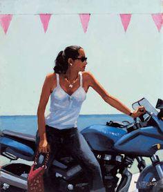 Jack Vettriano   La Fille a la Moto