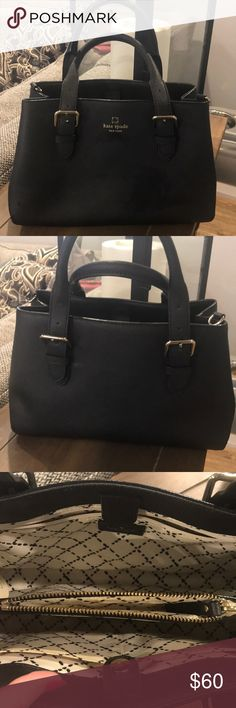 Kate Spade Purse Gorgeous, EUC Kate Spade classic black purse. Comes with authenticity card, unfortunately I have no idea what I did with the dust bag. Purse also comes with a strap to make a crossbody. Shows no sign of wear. kate spade Bags Totes