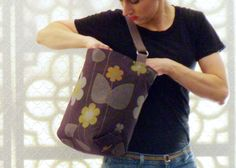 Simple Utilitarian Handbag in Plum Purple by textilecouture, $79.00
