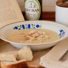Zupa piwna wg przepisu z Old Recipes, Cooking Recipes, Polish Recipes, Polish Food, Old Plates, Hummus, Oatmeal, Ice Cream, Breakfast