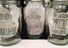 frascos de mermelada como vasos - Buscar con Google Vasos Vintage, Vintage Cafe, Restaurant, Cool Diy, Ideas Para, Decoupage, Mason Jars, Projects To Try, Great Gifts