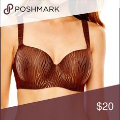 "40 DDD Balconette Full Figure Bra Achieve that ""no-show"" look under your favorite tops with our balconette full-figure bra by Ambrielle Mystique. The perfect essential for wider necklines, it features lightly lined cups and offers a smooth lift you'll love.  Style: balconette; wider-set straps with moderate coverage; perfect for wider necklines Padding: lightly lined molded cups smoothly shape and support your bust; includes underwire for shape and support nylon/spandex Ambrielle Intimates…"