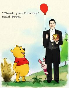 Working at the Hundred Acre Wood by MoishPain  . . .Winnie the Pooh and Downton Abbey . . . I can't even . . .