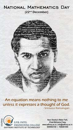 An equation means nothing to me unless it expresses a thought of god.