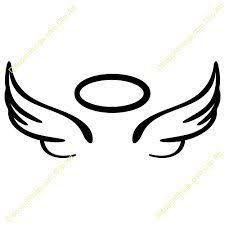 Image result for simple angel wings tattoo