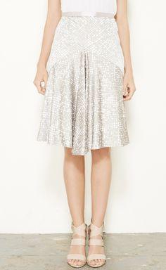 Barneys New York Grey And White Skirt