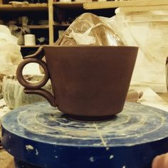 """I think I'm going to like this whole """"slipcasting"""" thing. . . . . #ceramics #art #ceramicart #clay #..."""