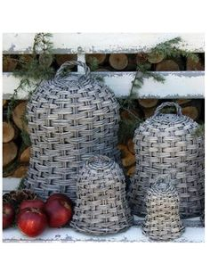 CLOCHES DE JARDIN Chic Antique, Antique Silver, French Baskets, Flower Frog, 2014 Trends, Topiary, Outdoor Entertaining, Creative Crafts, Wicker