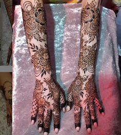 Mehndi By Naaz I am a selftaught henna artist based in Leicester. Specialising in bridal henna and bespoke henna decorated items. Wedding Henna Designs, Floral Henna Designs, Back Hand Mehndi Designs, Latest Bridal Mehndi Designs, Mehndi Designs 2018, Mehndi Designs Book, Mehndi Designs For Girls, Unique Mehndi Designs, Beautiful Henna Designs
