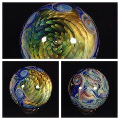 "Fumed Implosion 1.5""- Borosilicate Marble - Handmade db Glass - Boro - Art Glass"