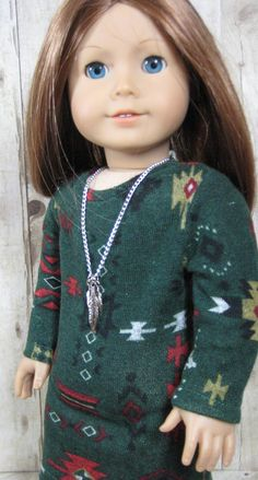 18 inch Doll Clothes American Girl Tribal Print Sweater Dress Outfit