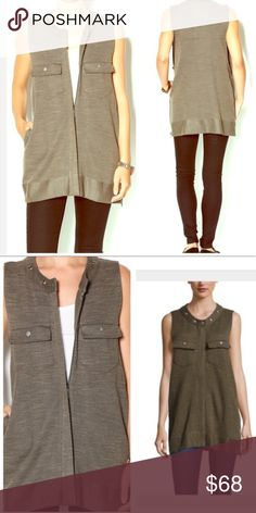 FREE PEOPLE Duster Vest NWT AND COZY SOFT! POCKETSSSSS! Color is Cream Olive. Retail $148. 💗 Cable Knit. Varsity Baseball Vest Jacket. Marled. Striped Oversized Slouchy Long Cardigan Sweater Wrap Coat denim olive bomber jacket Button Up Down Loose Knit Waffle Loose Knit Sweater Camel green Utility Spring Trench. Silver White Button detail Blazer Duster Fuzzy Free People Jackets & Coats Vests