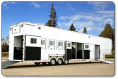 "The The Ultimate Luxury Horse Trailer by Featherlite - ""Ranch""  In my dreams !!!"