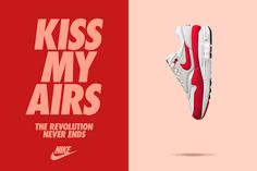 Celebrating the 30th anniversary of Air Max. Air Max Day, Shoes Ads, 30th Anniversary, Sneaker Posters, Nike Campaign, Shoe Advertising, Shoe Poster, Nike Ad, Sports Graphic Design