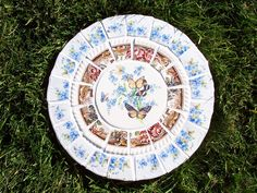 Mosaic Stepping Stone~Butterflies and Forget-Me-Nots