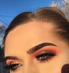 maquiagem olhos sombra laranja esfumado Flawless Makeup, Glam Makeup, Makeup Inspo, Makeup Inspiration, Makeup Tips, Beauty Makeup, Eye Makeup, Hair Makeup, Hair Beauty