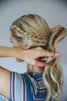 How to Get the Perfect Messy Bun Braid