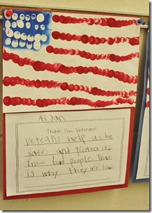 veterans day - finger dot paintings?
