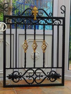 When it's time to change out your garden gates, there's very little point in purchasing a gate which demands a great deal of maintenance. Wrought Iron Gate Designs, Wrought Iron Stairs, Wrought Iron Decor, Metal Garden Gates, Metal Gates, Window Grill Design, Fence Design, Steel Gate Design, Iron Balcony
