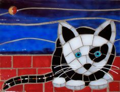 cat mosaic adorable art