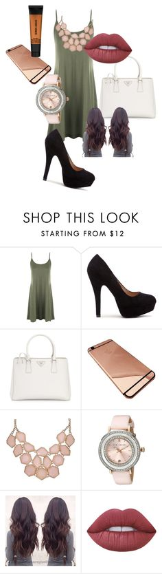 """""""Untitled #73"""" by adorably3vil on Polyvore featuring WearAll, Prada, Ted Baker, Lime Crime and Giorgio Armani"""
