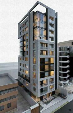 Condominium Architecture, Architecture Building Design, Building Facade, Facade Design, Residential Architecture, Contemporary Architecture, Exterior Design, Commercial Architecture, Modern Buildings