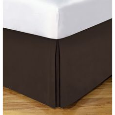 Available in a variety of colors, this bedskirt offers a 14 inch drop and ranges in size from twin to California king. This bedskirt is conveniently machine washable.