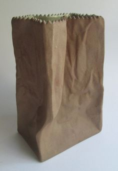 Paper bag vase, designed 1977 by the Finnish designer Tapio Wirkkala for Rosenthal Studio Linie Germany by SCALDESIGN on Etsy The Paper Bag, Happy D, Desk Organization, Flower Vases, Colorful Interiors, Paper Shopping Bag, Stoneware, Interior Decorating, Germany
