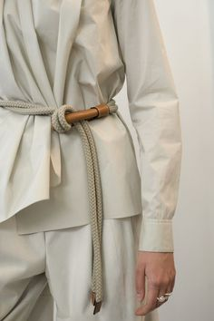 Wear knotted waist belts with complimentry tumbled leather handmade accessories