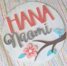 Tweetheart Round Wooden Name Sign Wooden Wall Letters, Letter Wall, Baby Name Signs, Baby Names, Custom Wooden Signs, Wooden Diy, Wood Names, Wood Name Sign, Rustic Signs