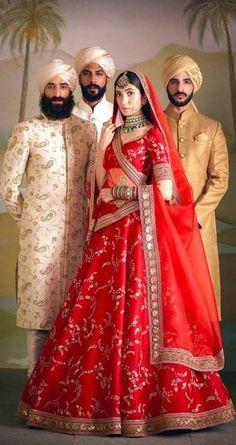Most Popular Sabyasachi Lehenga Designs For Brides of 2019 - Latest Wedding Ideas & Inspiration Wedding Lehnga, Indian Bridal Lehenga, Indian Bridal Outfits, Indian Bridal Fashion, Indian Bridal Wear, Indian Dresses, Sabyasachi Lehenga Bridal, Wedding Wear, Wedding Reception